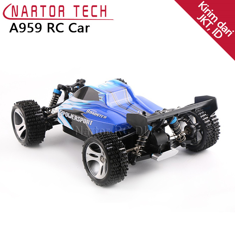 WL Toys A959 RC Car 2.4G Radio Remote Control Model Scale Rally Shockproof Rubber wheels Buggy High-speed Off-Road