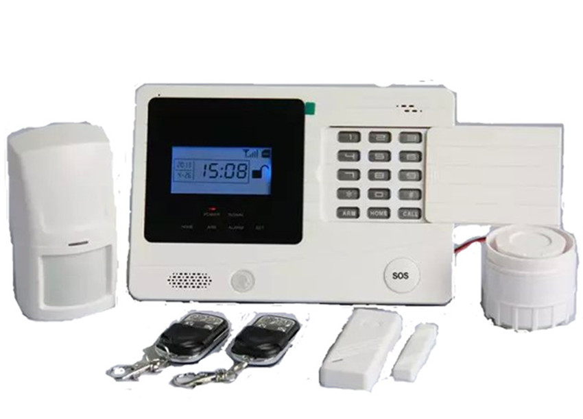 GSM Alarm System With LCD Display SOS Button  Burglar Alarm System GSM Alarm System With LCD Display SOS Button  Burglar Alarm System