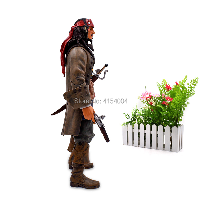 """Image 3 - 12""""30 cm Pirates Of The Caribbean Captain Jack Sparrow Jackie PVC Action Figure Articular Movable Collectible Model ToysAction & Toy Figures   -"""