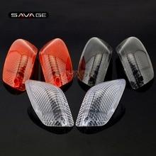 ل كاواساكي ZZ R 1100 D/ZX 11/ZZR 1200 دراجة نارية اكسسوارات 3 ألوان الجبهة بدوره إشارة مؤشر مصباح ضوء عدسة غطاء لين