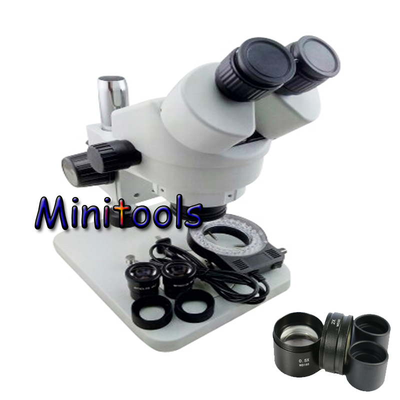 3.5X-90X Continuous zoom Stereo Binocular Microscope 56 LED adjustable light source 0.5X 2.0X Objective Lens 10X/20X eyepiece 20x student zoom stereo microscope led binocular stereo microscope tool insect plant watch for student science education