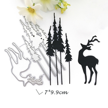 Christmas Tree Deer Metal Cutting Dies for Scrapbooking DIY Album Embossing Folder Paper Card Maker Template Decor Stencils Dies merry christmas trees sticker painting stencils for diy scrapbooking stamps home decor paper card template decoration album