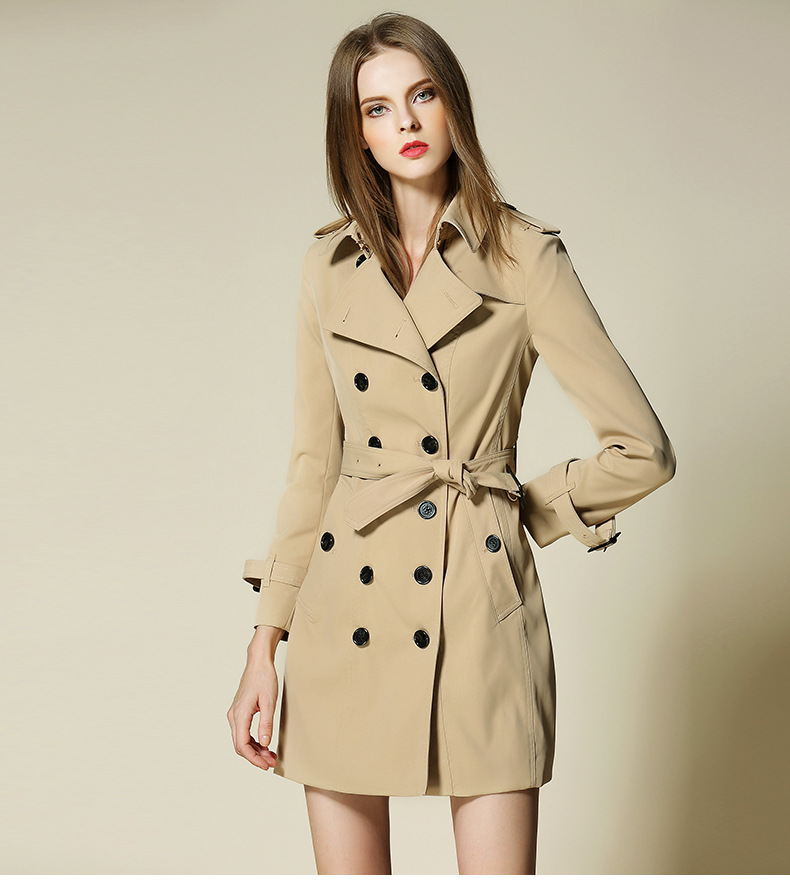 discount for sale latest sale timeless design US $88.0 |New 2018 Burdully Trench coat for women B brand factory good  price classic British Style trench Mid long female elegant overcoat-in  Trench ...