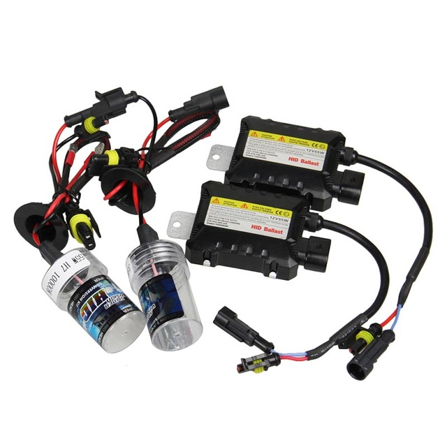 12 В DC 55 Вт H7 Ксеноновая Лампа Балласт HID Conversion KIT Car Лампы фар 4300 К 5000 К 6000 К 8000 К 10000 К 12000 К Автомобилей Источник Света