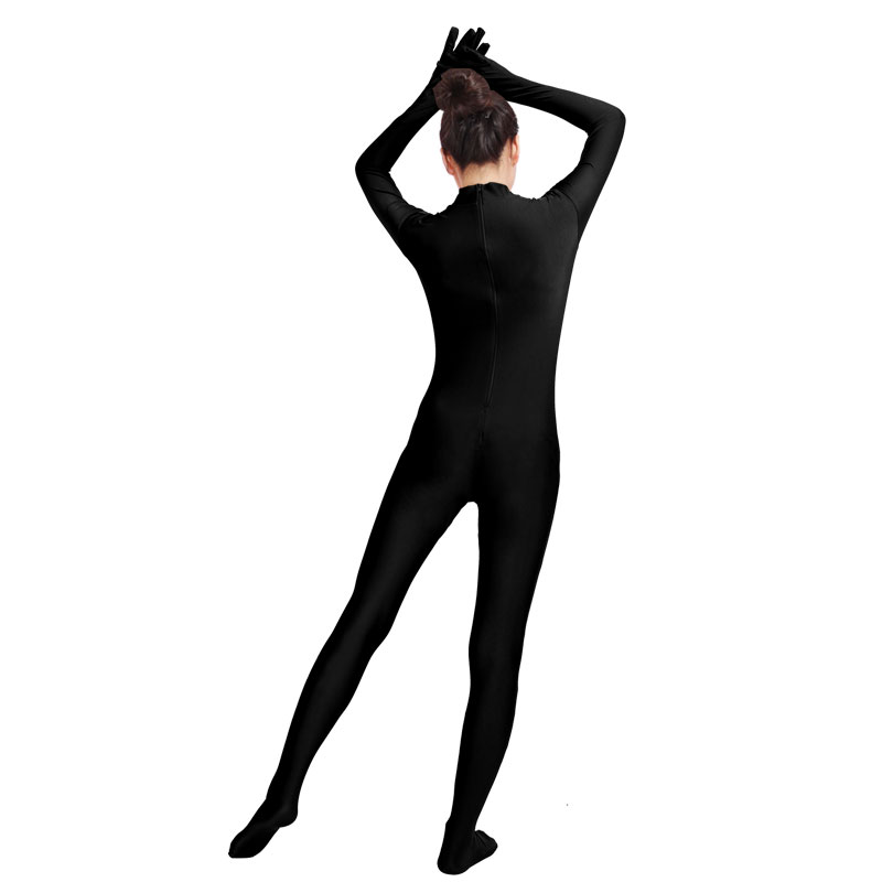 372498cf5c9 Ensnovo Black Spandex Zentai Full Body Skin Tight Jumpsuit Unisex Zentai  Suit Bodysuit Costume for Women Unitard Lycra Dancewear