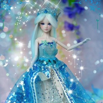 11'' BJD Doll ice princess 1/4  Toys Dress Wig Clothes Shoes Makeup 14-Joints Cosplay Rapunzel Doll doll for girls Christmas
