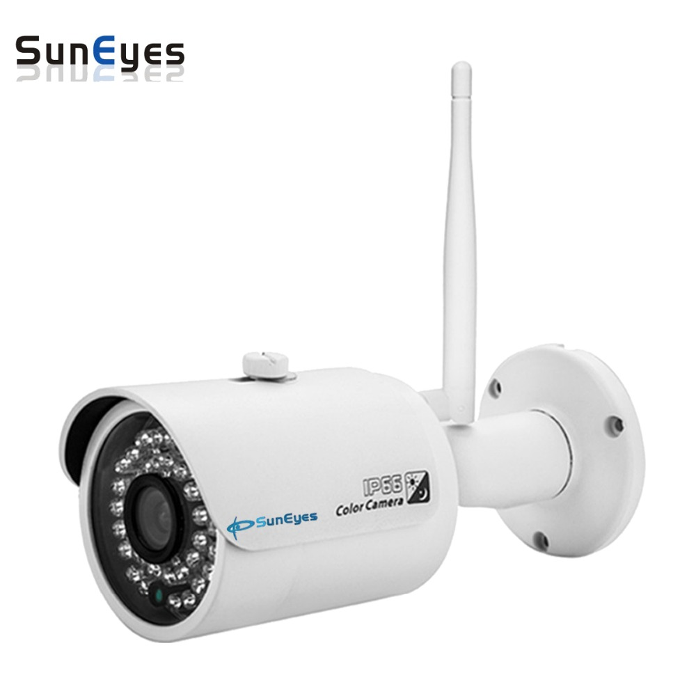 SunEyes SP-V701W-POE 720P HD Outdoor IP Camera with Both POE and Wireless Support suneyes sp v702w 720p hd mini dome ip camera outdoor wireless wifi weatherproof onvif and rtsp with free p2p metal alloy case