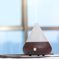Wood Grain Ultrasonic Aroma Diffuser Mini Humidifier Office Air Diffuser Mist Maker USB Humidifier