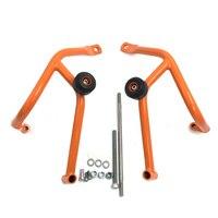 For KTM 125 200 DUKE 125 200 2011 2012 2013 2014 2015 2016 Motorcycle Bumper Engine Guard Crash Bars Slider Protector Orange