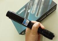 450nm High Power 10000 mt Blau Laser Pointer Lazer Stift Licht Einstellbarer Fokus Brennen Spiel Mit Ladegerät 5 sterne Kappen papier Box