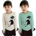 Encantador Cozy Tops Baby Girl Camisa Niño Niños Niño de Algodón Suave Otoño Camiseta de La Camiseta