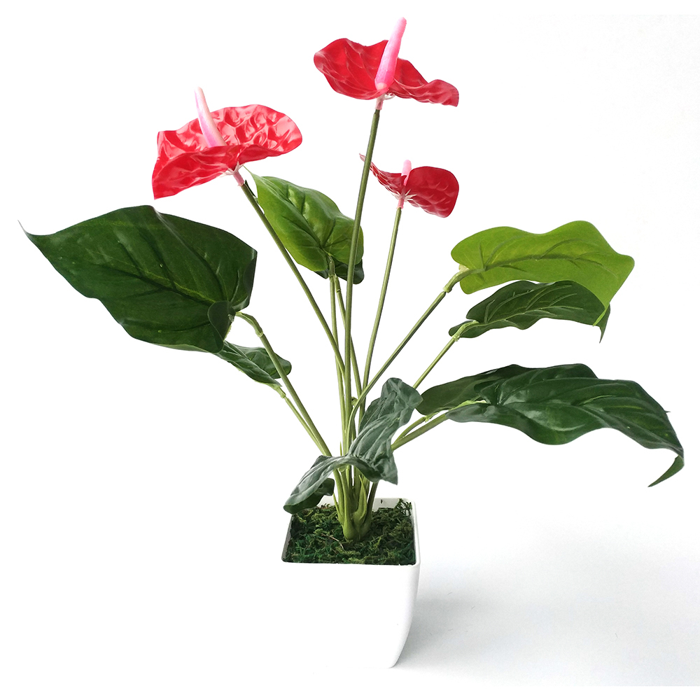 Anthurium artificial tree fake tree green plants Red ...
