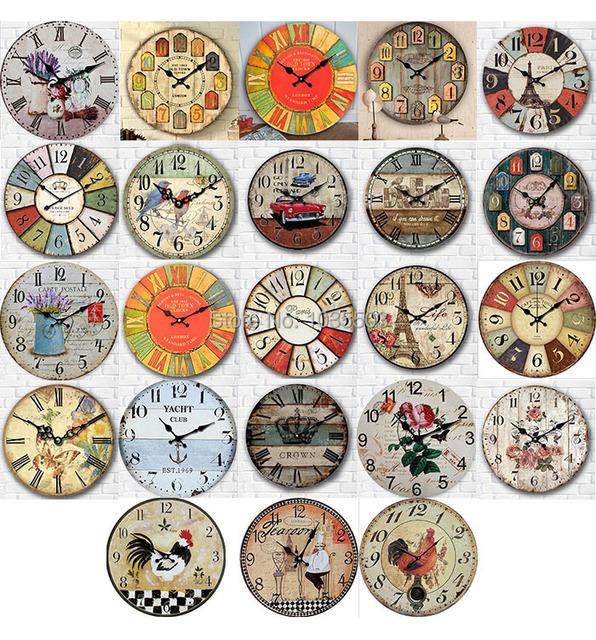 grand vintage mur bricolage horloge home decor mur montre d coration horloge murale design. Black Bedroom Furniture Sets. Home Design Ideas