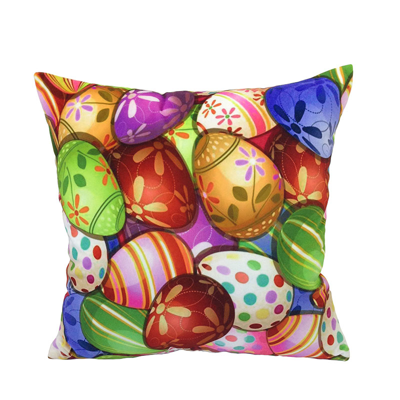 be Home 2016 New Arrival Painted eggshell Digital Printed Polyester Velvet Decorative Pillow Case Square Cushion Cover