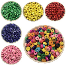 Jewelry Accessories Loose spacer Beads 300PCS Fashion Findings Marking DIY Cylindrical wood beads 7mm 8mm