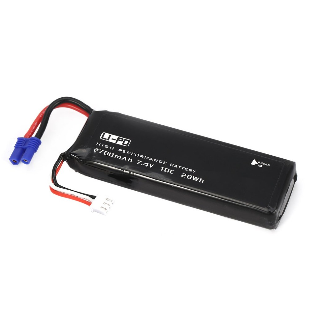 Li-po Battery 7.4V 2700mAh 10C 20Wh Spare Part Accessory for Hubsan H501S H501M H501A H501C RC Quadcopter Drone Aircraft Battery 7 4v 2700mah 10c battery 1 in 3 cable usb charger set for hubsan h501s h501c x4 rc quadcopter