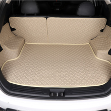 цена на HLFNTF Custom Car Trunk Mat for Cadillac ATS CTS XTS SRX SLS Escalade 5Dcar styling