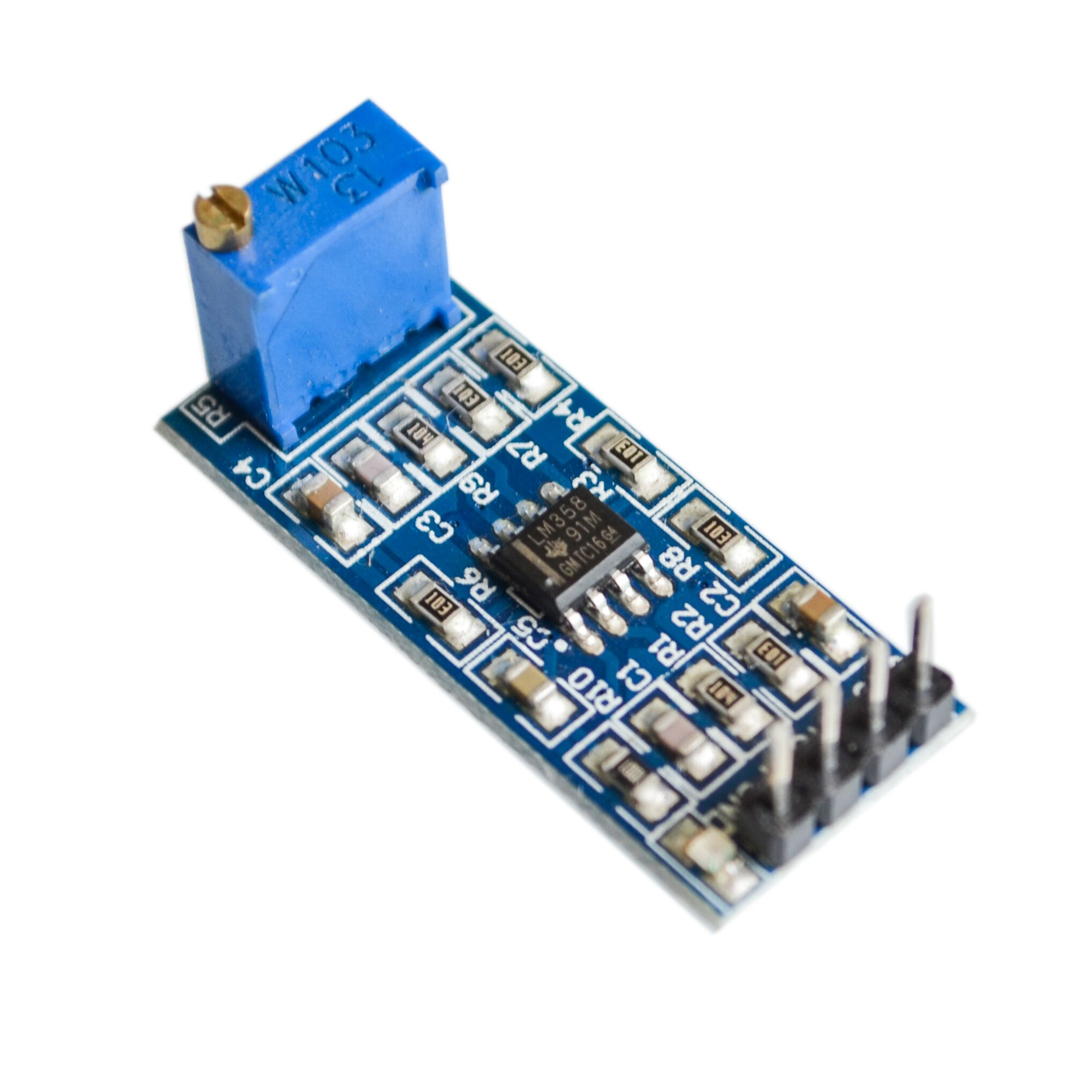 lm358 operational amplifier - LM358 100 times gain amplification module operational amplifier module