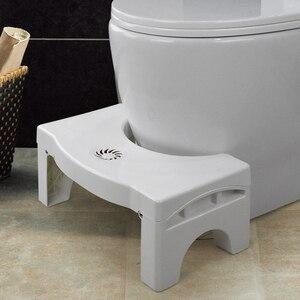 Image 2 - 浴室折りたたみプラスチック子供のためのスツールフットスツール抗便秘しゃがみトイレ