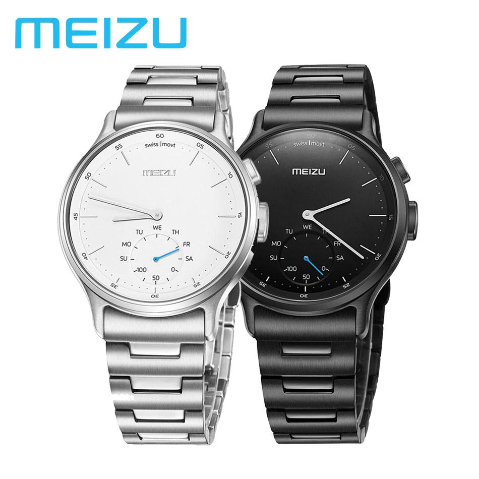 Prix pour D'origine Meizu de MÉLANGE Smart Watch Bluetooth Podomètre Analogique Affichage Appel SMS Rappel Calories En Cuir, mentale Bracelet deux Versi