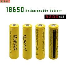 Li-ion para LED 4 PCS 18650 Bateria Recarregável 3200 MAH 3.7 V NÃO Aa e aaa Lanterna DA