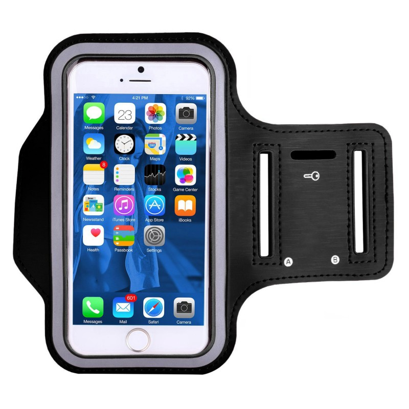 Outdoor Waterproof Cell Phone Bag Bike Arm Bag Exercise Run Gym Phone Accessories Cover Bag Black Nznx