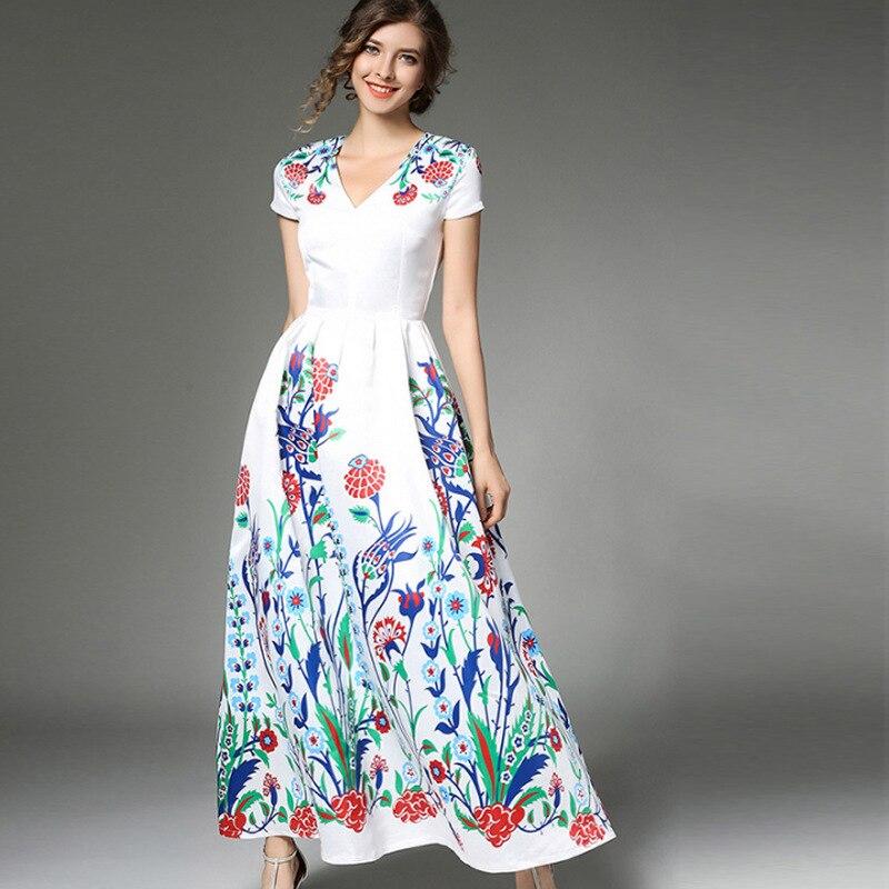 Dame femmes Boho Chic longues robes femme bohême mode fleurs imprimer élégante Maxi robe printemps été robe de plage
