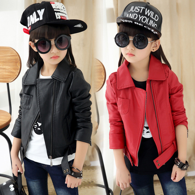 056056913 Baby Girls Leather Jacket Kids And Coats Spring Kids Leather Jackets ...