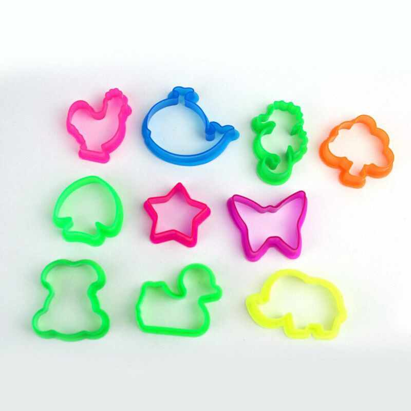 10pcs/set Random Color Plasticine Mold Animal Shape Clay Mould Baby Children Toys Animal Clay Playdough Mold Tool Toys