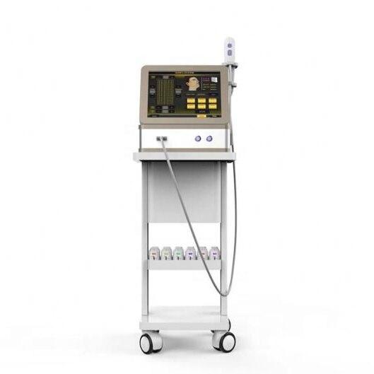 Le plus nouveau 4D hifu corée 12 lignes machine à ultrasons visage et corps/améliorer l'efficacité anti-rides 4d visage et corps/8 cartouche