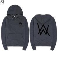 SJ Men Sweatshirts Music DJ Divine Comedy Alan Walker Faded Coat Hoodies Sweatshirts Men Pullovers Brand