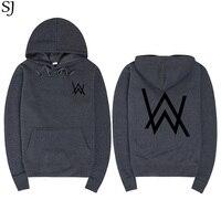 SJ Men Sweatshirts Music DJ Divine Comedy Alan Walker Faded Coat Hoodies Sweatshirts Men Pullovers Brand