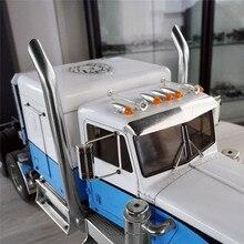 1 זוגות פליטה צינורות RC דגם DIY עבור TAMIYA אמריקאי מלך משאית פליטה צינור מתכת רכב Accessaries