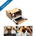 Imán diy google cartón 1.0 vr 3d gafas de realidad virtual para iphone 6 plus smartphone de alta calidad gafas virtuales
