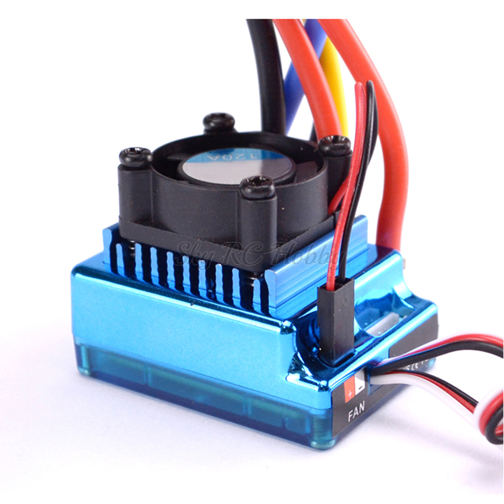 Toy Cars Parts 120A Sensored Brushless ESC Speed Controller For 1/16 1/10 1/12 RC Car Crawler