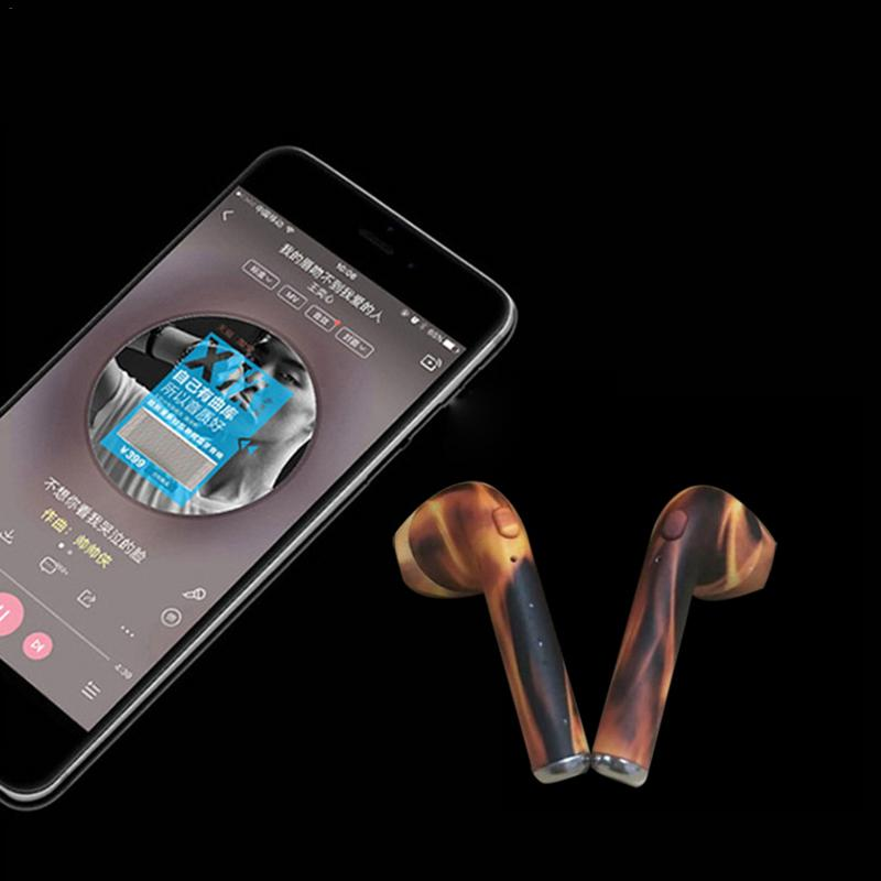 Camouflage Bluetooth Headset I7s Tws I9 Hands Free Stereo Earbud Earphone With Mic Double Earpiece For Phone Xs Samsung Xiaomi in Bluetooth Earphones Headphones from Consumer Electronics