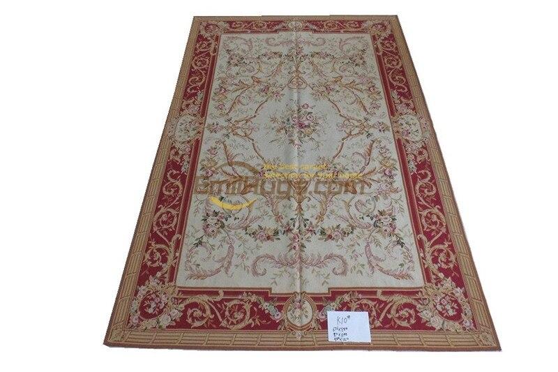 Tapis Antique français Aubusson Point aiguille Point de croix fait main tapis Antique décor Rectangle tapis Kilim tapis tapisseries