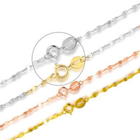 18k Pure Gold Necklace 0.90g 1.1g Female Women Girl Gift New Chain Jewelry Wedding Party Upscale Real Solid 750 Discount Hot