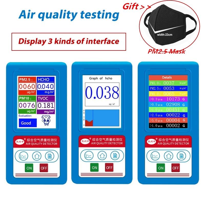 Formaldeyde HCHO PM1 0 PM2 5 PM10 Gas Analyzer TVOC Particles Detector Meter PM 2 5