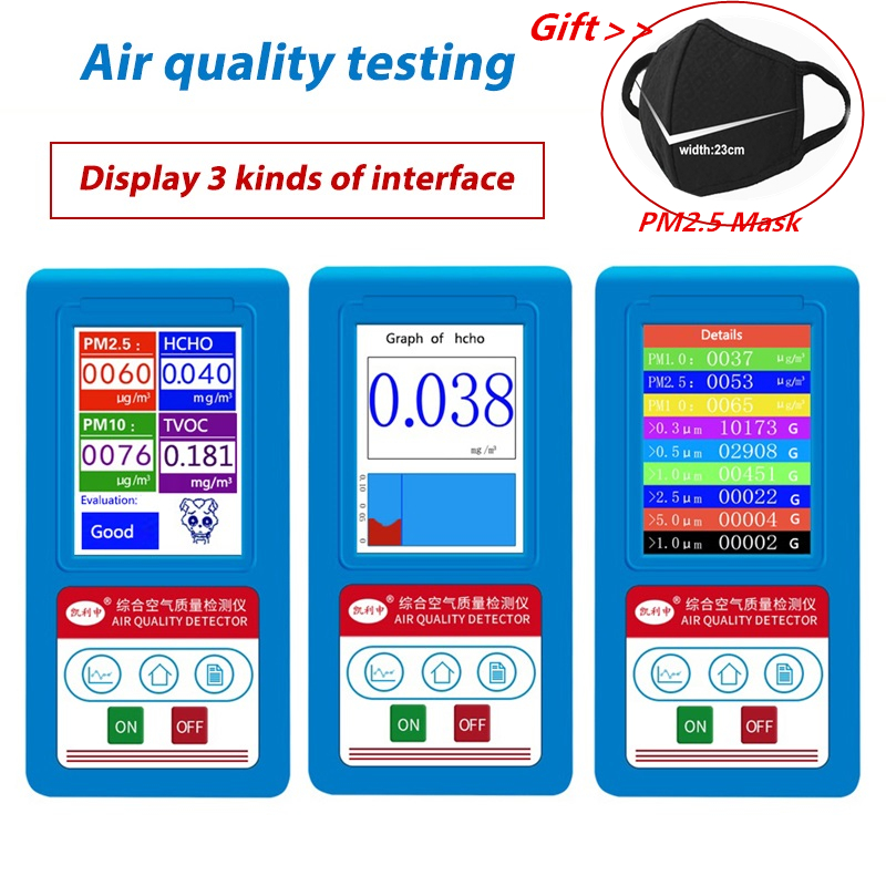 Analyseur de gaz formaldéhyde HCHO PM1.0 PM2.5 PM10 analyseur de particules covt détecteur de particules PM 2.5 PM 10 testeur analyseur de qualité de l'air