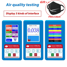 Formaldeyde HCHO PM1.0 PM2.5 PM10 Gas Analyzer TVOC Particles Detector Meter PM 2.5 PM 10 Tester Air Quality Analyzer aneng pm1 0 pm 2 5 pm10 gas analyzer 9 kinds particles detector air quality monitor