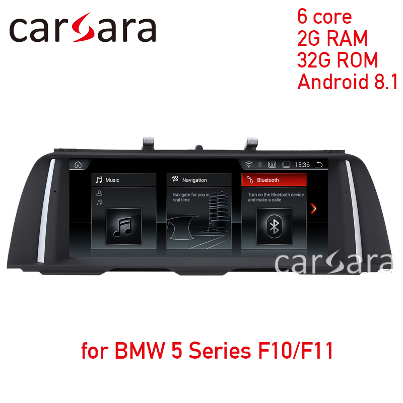 Navigation radio mise à jour pour BMW série 5 F10/F11 2011-2016 2G RAM Android 8.1 écran tactile GPS stéréo dash lecteur multimédia
