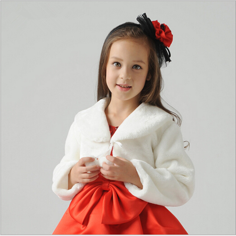 Kids Girls Winter Faux Fur Collar Party Coat Jacket Princess Warm Dress Outwear