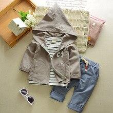2017 new child child boy outwear fashion suit children winter overalls 3 pcs hooded jacket set cotton baby boy sportswear