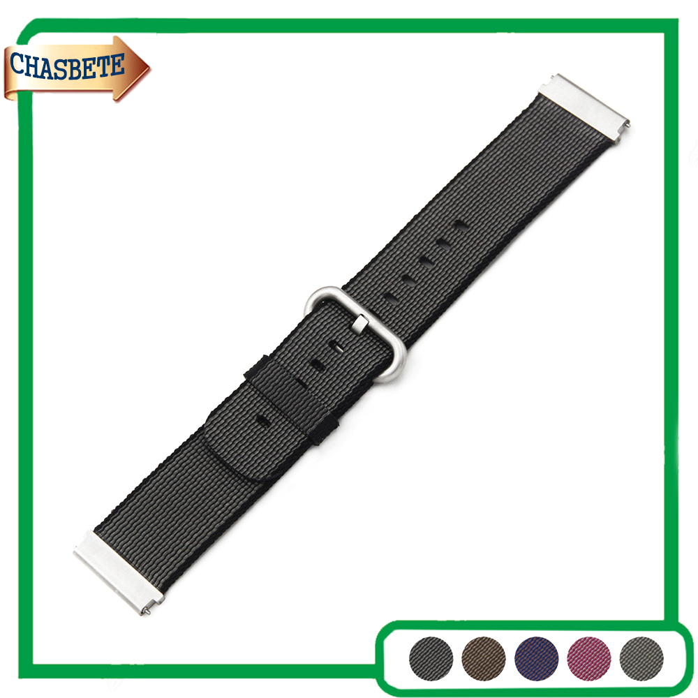 Nylon Watch Band for Pebble Time / Steel 22mm Belt Wrist Strap Loop Bracelet Black Brown Grey Pink Purple + Tool + Spring Bar купить дешево онлайн