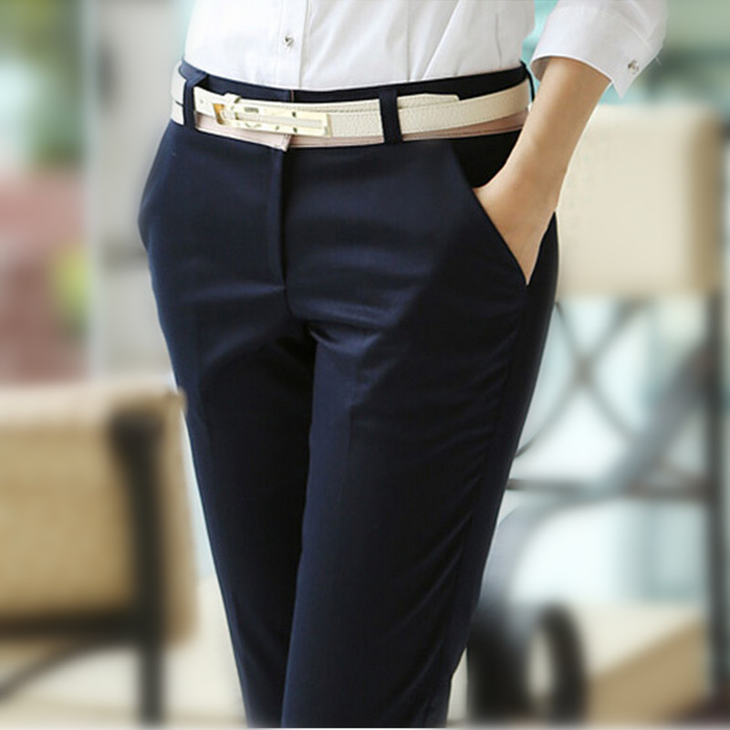 3aea6c165d598 New 2019 Spring and Summer Women Ol Formal Pants Slim Straight ...