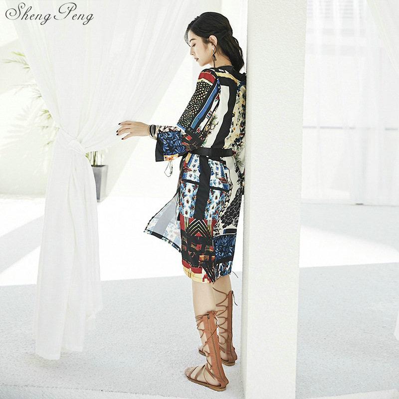 1cfb3ff3b Aliexpress.com : Buy Summer japanese kimono traditional yukata cardigan  dress beach chiffon blouse kimono vintage elegant floral print dress CC526  from ...