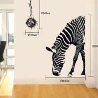 Zebra Muursticker Adesivo De Parede DIY pegatinas De pared arte abstracto negro decoración Animal pegatinas decoración casa