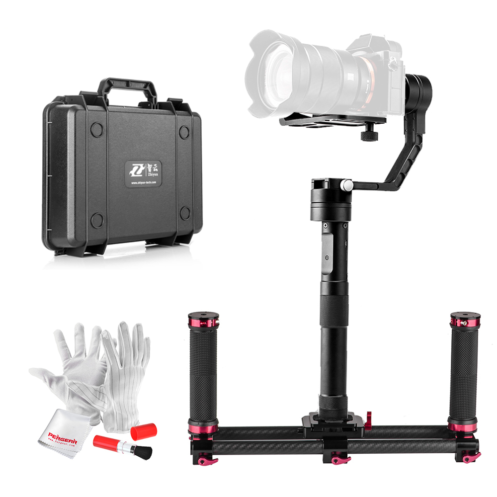 Zhiyun Crane 3 Axis Brushless Handheld Gimbal Stabilizer with Pergear Cleaing Kit for Mirrorless Cameras A7 A7II A7R A6300...