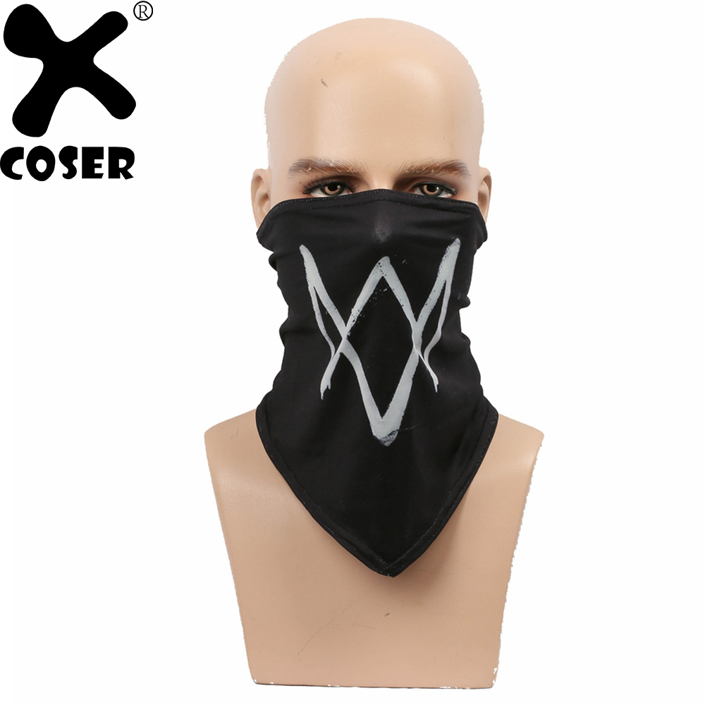 XCOSER Watch Dogs 2 Marcus Holloway Scarf Face Mask Game Cosplay Props Stylish Cool Half Face Masks Cosplay Costume Accessories